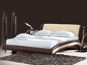 Кровати из кожи и экокожи