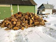 Распилк древесины на чурки по 30 40 см.