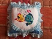 Подушки-подарки, метрики  для малышей.