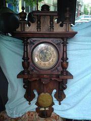 Редкие настенные старинные немецкие часы XIX век фирмы FMS
